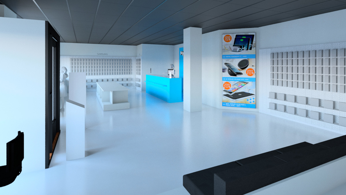 MyTrendyPhone Hillerød store interior day view 3d render 01