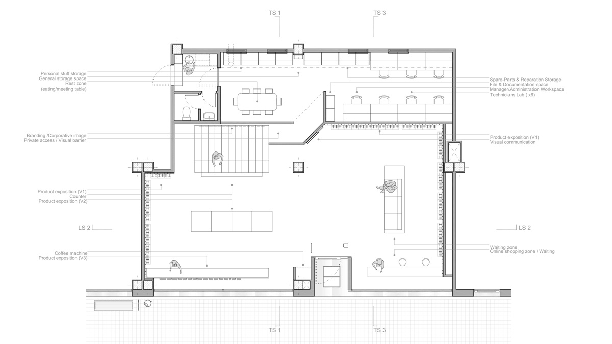 MyTrendyPhone Hillerød store architectural drawing plan