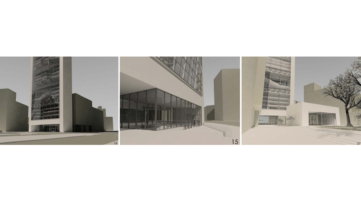 Chamber of commerce Barcelona project architectural visualizations 3d renders  02