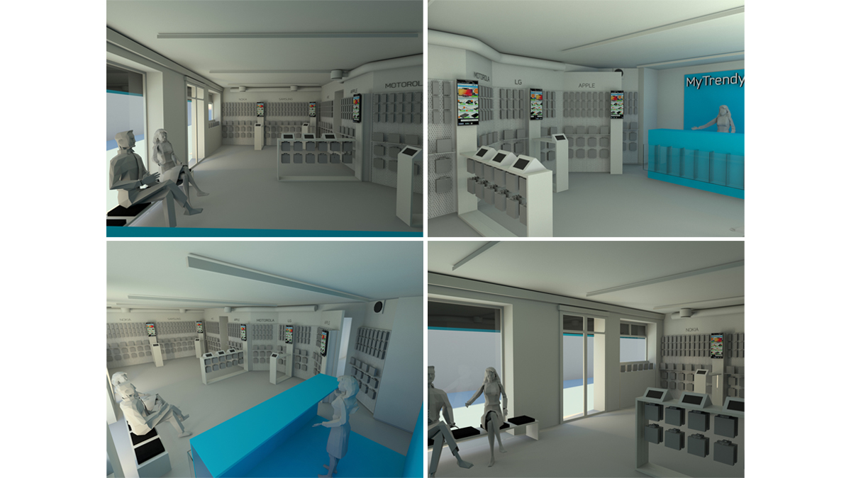 MyTrendyPhone oslo store interior visualization 3d renders