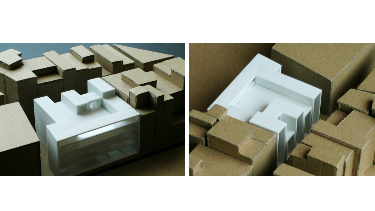 music conservatory barcelona project architectural model photos