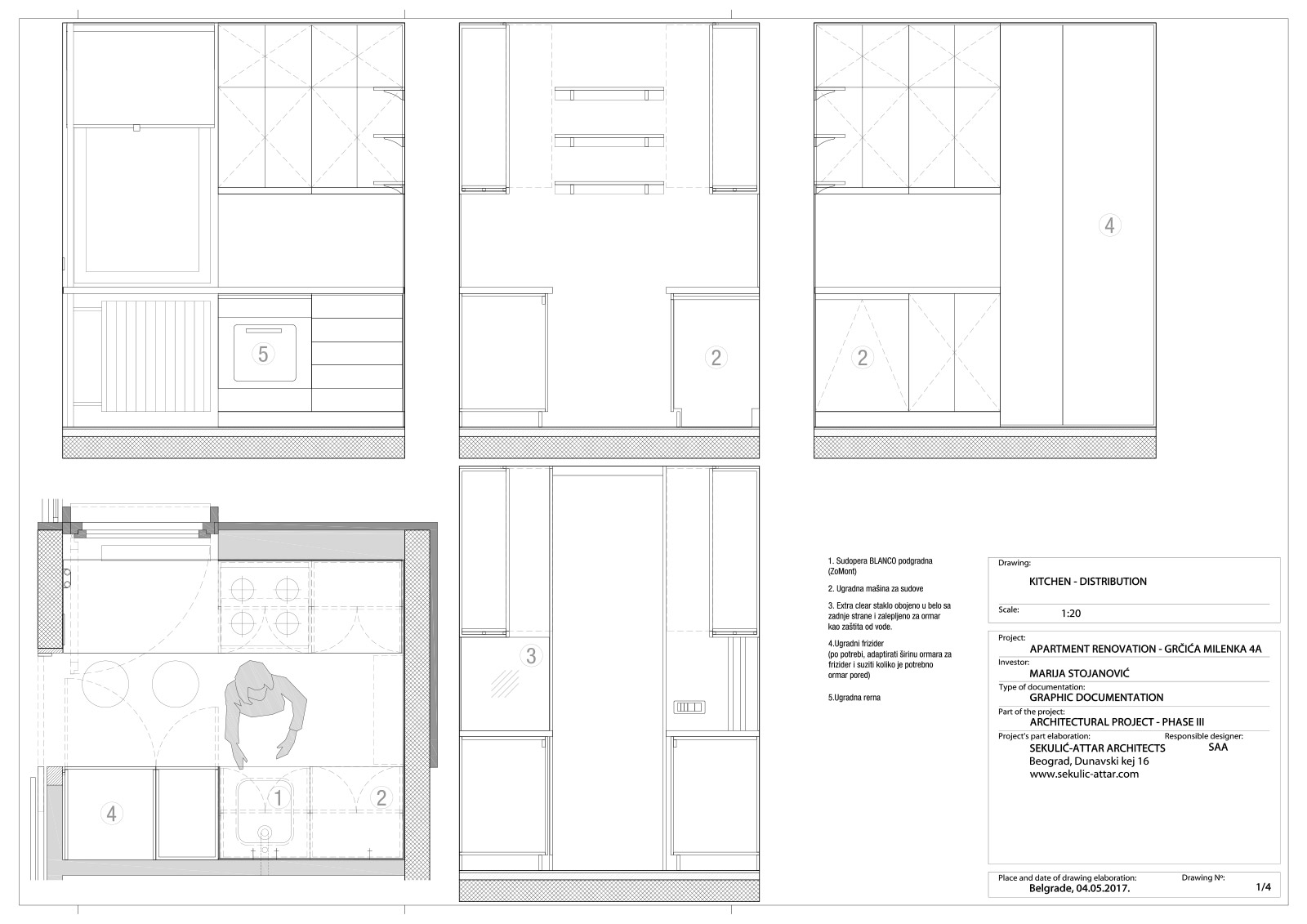 apartment in grcica milenka belgrade architectural drawings kitchen distribution