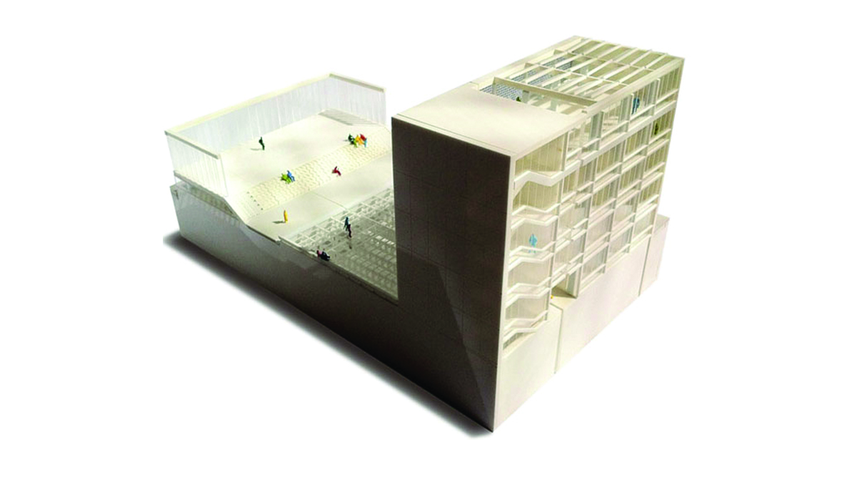 Youth center Barcelona project architectural model photo 01