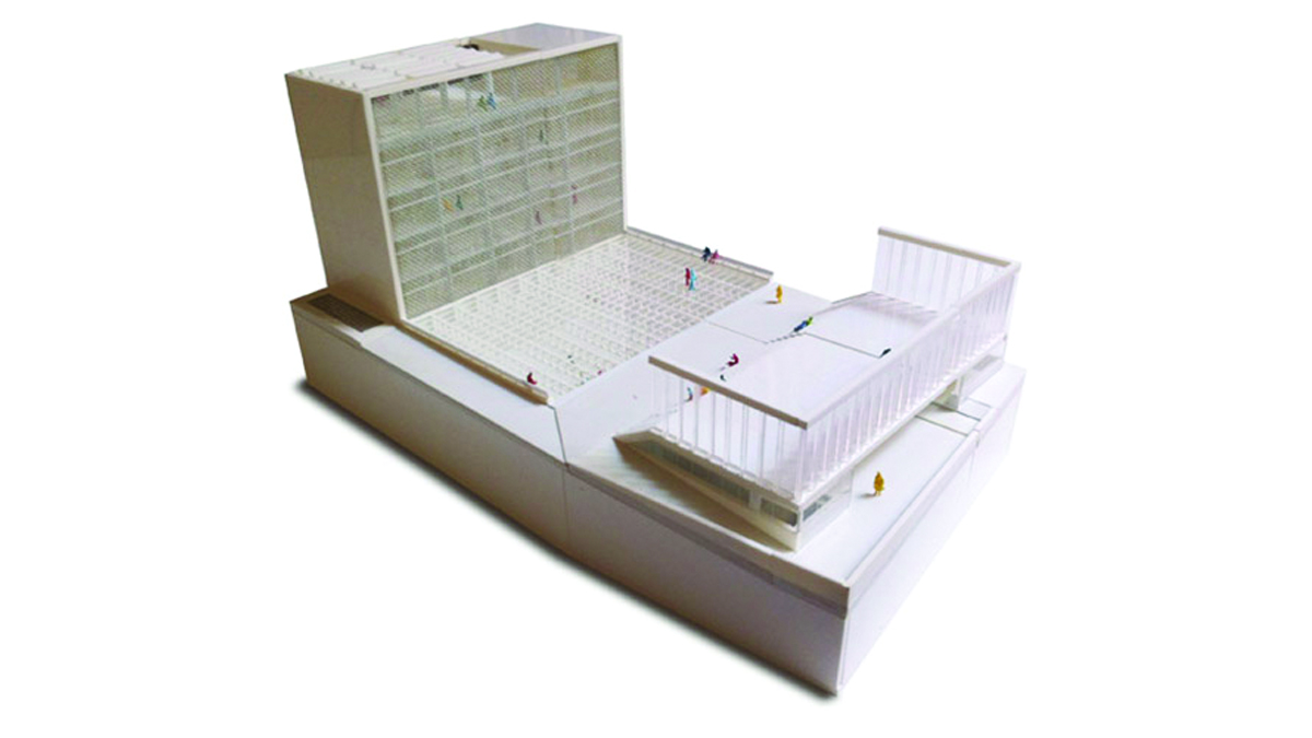 Youth center Barcelona project architectural model photo 02
