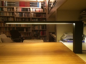 tqa montselamp illuminating studio desk interior photo