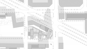 Chamber of commerce Barcelona project architectural drawing situation plan