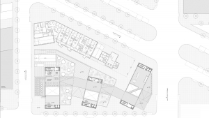 Chamber of commerce Barcelona project architectural drawing ground floor plan