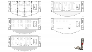 Chamber of commerce Barcelona project architectural drawings pattern floor plans