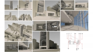 Chamber of commerce Barcelona project architectural visualizations 3d renders