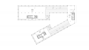 Civil center and offices Barcelona project architectural drawing floor plan