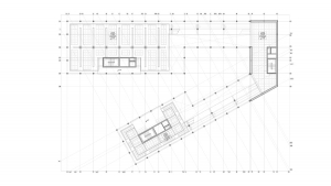 Civil center and offices Barcelona project architectural drawing structural floor plan