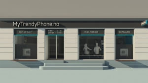 MyTrendyPhone oslo store facade view 3d render