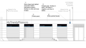 MyTrendyPhone oslo store architectural drawing facade