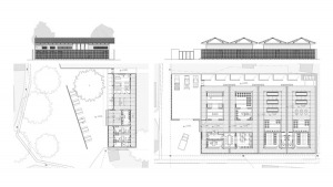 Maxaquene A Maputo facilities project architectural drawing plans and elevations
