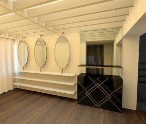 Metropoliten perfume shop vracar belgrade interior view 3d render by killian