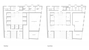 music conservatory barcelona project architectural drawing plans third and fourth floor