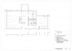 apartment in grcica milenka belgrade architectural drawing floor plan distribution