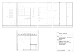 apartment in grcica milenka belgrade architectural drawings bathroom distribution