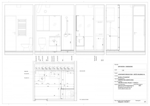 apartment in grcica milenka belgrade architectural drawings bathroom dimensions