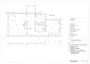 apartment in grcica milenka belgrade architectural drawings electrical distribution plan
