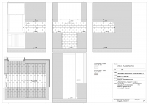 apartment in grcica milenka belgrade architectural drawings kitchen tiles distribution