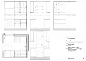 apartment in grcica milenka belgrade architectural drawings kitchen dimensions