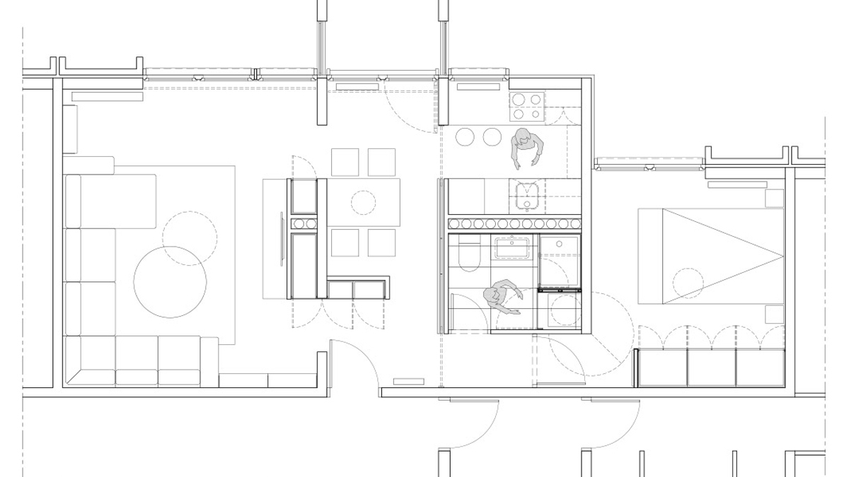 apartment in grcica milenka belgrade architectural drawing floor plan