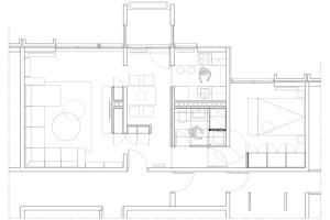 apartment in grcica milenka belgrade architectural drawing floor plan