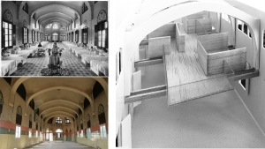 Sant Manel pavilion at Sant Pau Hospital Barcelona rehabilitation proposal interior architectural model photos