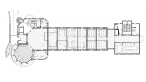 Sant Manel pavilion at Sant Pau Hospital Barcelona architectural drawing plan