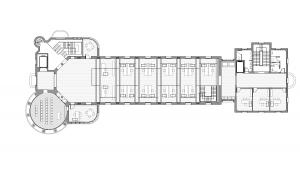 Sant Manel pavilion at Sant Pau Hospital Barcelona architectural drawing plan 02