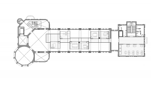 Sant Manel pavilion at Sant Pau Hospital Barcelona architectural drawing plan 03