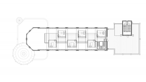 Sant Manel pavilion at Sant Pau Hospital Barcelona architectural drawing plan 04