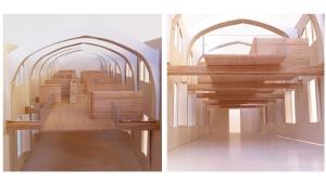 Sant Manel pavilion at Sant Pau Hospital Barcelona architectural rehabilitation project proposal model photos 02