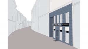 MyTrendyPhone copenhagen store exterior signage 3d visualization