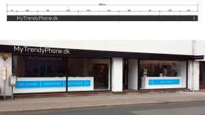 MyTrendyPhone hillerød store facade signage day view photo