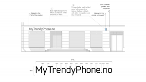 MyTrendyPhone oslo store facade signage visualization architectural drawings