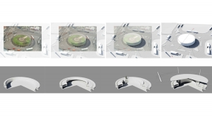 slavija square belgrade competition project architectural 3d visualizations