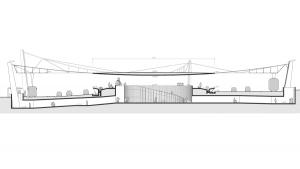 slavija square belgrade competition project architectural drawing longitudinal section