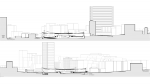 slavija square belgrade competition project architectural drawings sections