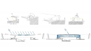 slavija square belgrade competition project hand drawings section analysis