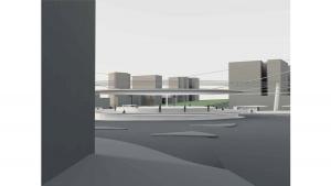 slavija square belgrade competition project architectural visualization 3d render