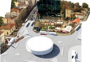 slavija square belgrade competition project photo-render collage