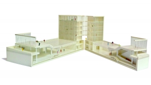 Youth center Barcelona project sectioned architectural model photo