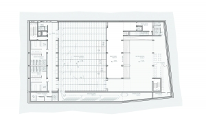 Youth center Barcelona project architectural drawing plan basement floor