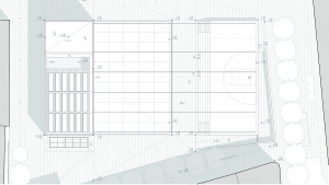 Youth center Barcelona project architectural drawing plan roof