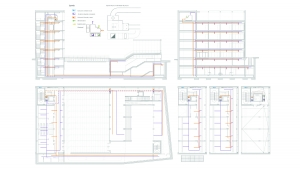 Youth center Barcelona project architectural drawings air conditioning installations