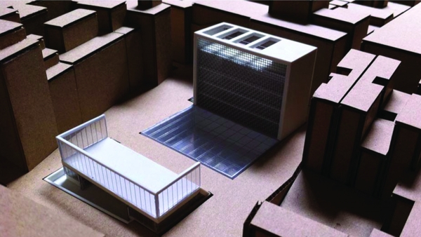 Youth center Barcelona project architectural model photo