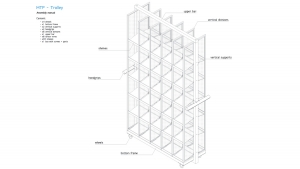 MyTrendyPhone picking trolley assembled scheme technical drawing 3d