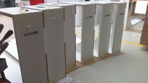 Technical supervision of tailor-made elements in a workshop - protected mdf